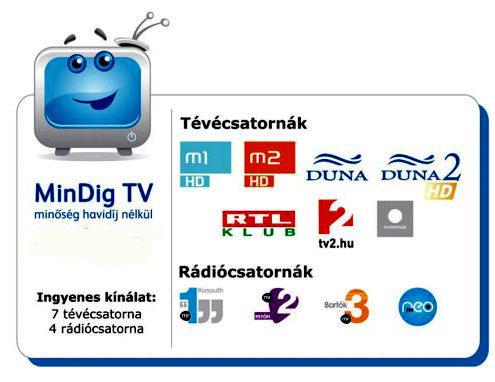 Mindig Tv alapcsatornák